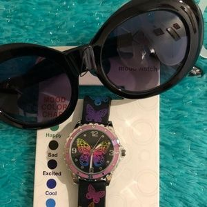 Watch and sunglasses for girls